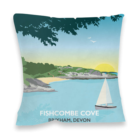 Fishcombe Cove, Brixham Fibre Filled Cushion