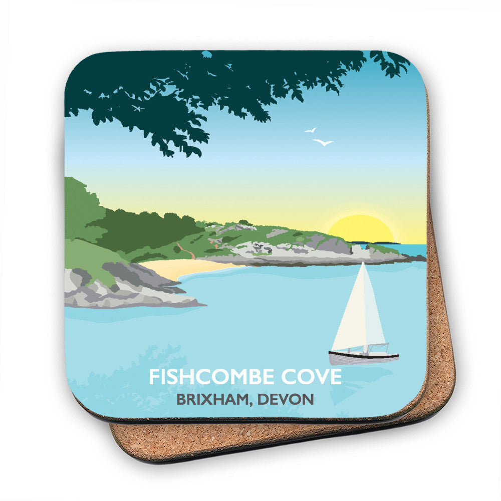 Fishcombe Cove, Brixham MDF Coaster