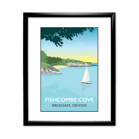Fishcombe Cove, Brixham 11x14 Framed Print (Black)