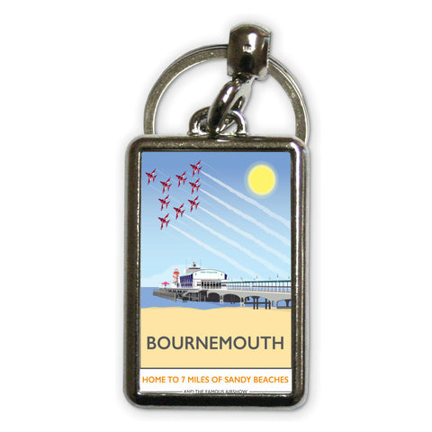 Bournemouth, Dorset Metal Keyring