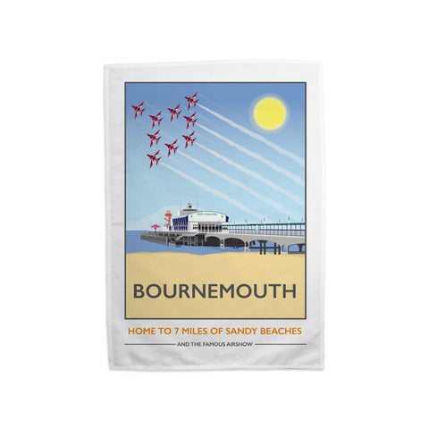 Bournemouth, Dorset Tea Towel
