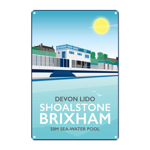 Devon Lido, Brixham Metal Sign