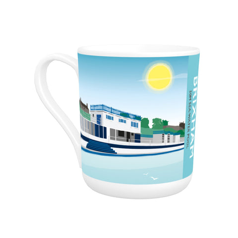 Devon Lido, Brixham Bone China Mug