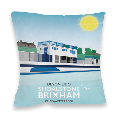 Devon Lido, Brixham Fibre Filled Cushion