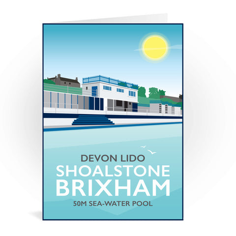 Devon Lido, Brixham Greeting Card 7x5