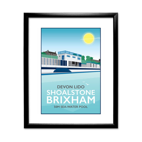 Devon Lido, Brixham 11x14 Framed Print (Black)