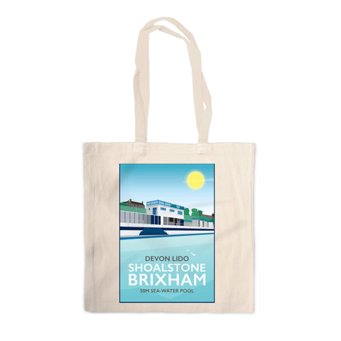 Devon Lido, Brixham Canvas Tote Bag