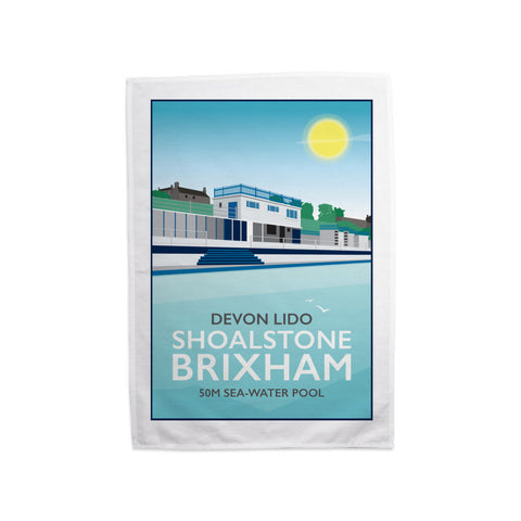 Devon Lido, Brixham Tea Towel