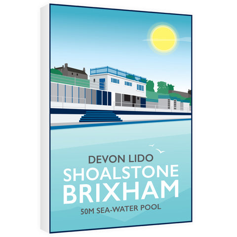 Devon Lido, Brixham 60cm x 80cm Canvas