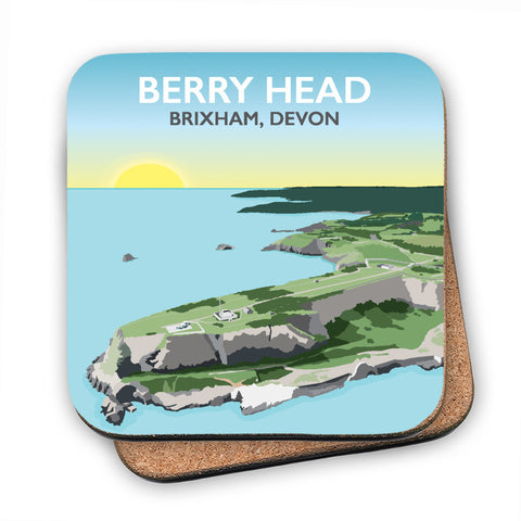 Berry Head, Brixham MDF Coaster