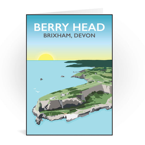 Berry Head, Brixham Greeting Card 7x5
