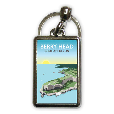 Berry Head, Brixham Metal Keyring
