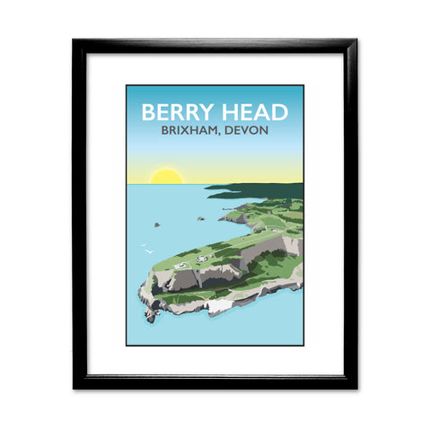 Berry Head, Brixham 11x14 Framed Print (Black)