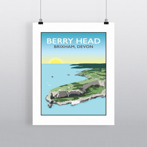 Berry Head, Brixham 90x120cm Fine Art Print