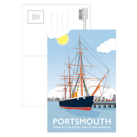 HMS Warrior, Portsmouth Postcard Pack