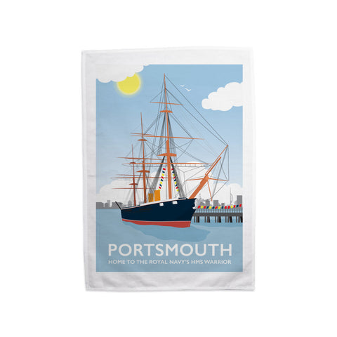 HMS Warrior, Portsmouth Tea Towel