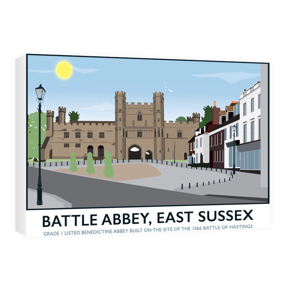 Battle Abbey, Battle 60cm x 80cm Canvas