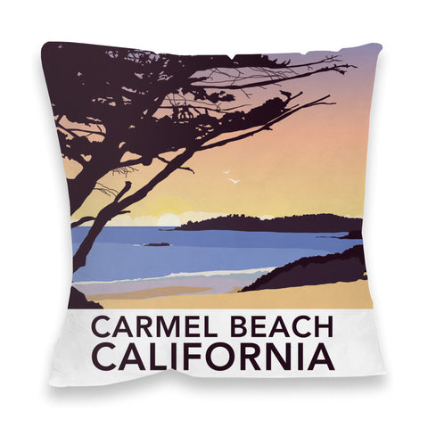Carmel Beach, California Fibre Filled Cushion