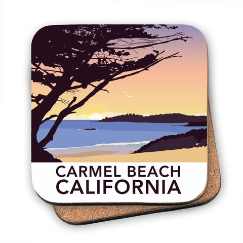 Carmel Beach, California MDF Coaster