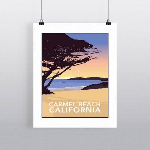 Carmel Beach, California 90x120cm Fine Art Print