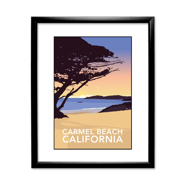 Carmel Beach, California 11x14 Framed Print (Black)