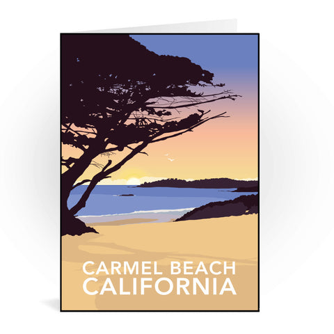 Carmel Beach, California Greeting Card 7x5