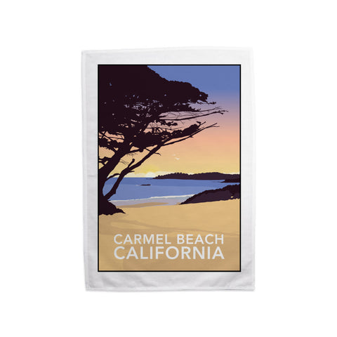 Carmel Beach, California Tea Towel