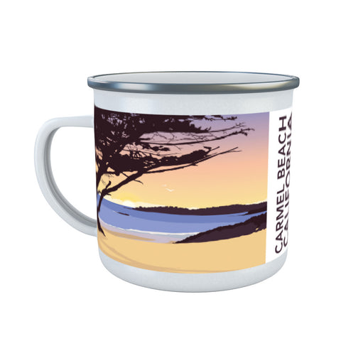 Carmel Beach, California Enamel Mug