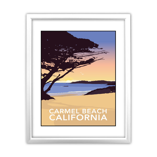 Carmel Beach, California 11x14 Framed Print (White)