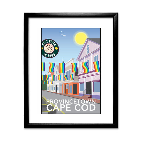 Provincetown, Cape Cod 11x14 Framed Print (Black)