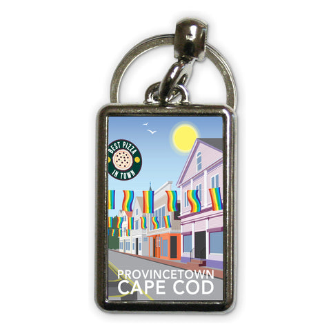 Provincetown, Cape Cod Metal Keyring