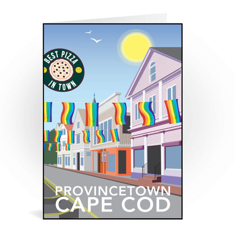 Provincetown, Cape Cod Greeting Card 7x5