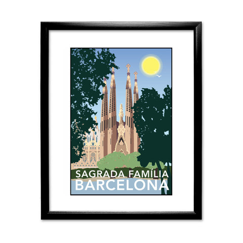 Sagrada Familia, Barcelona 11x14 Framed Print (Black)