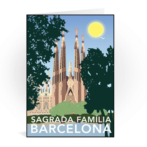 Sagrada Familia, Barcelona Greeting Card 7x5