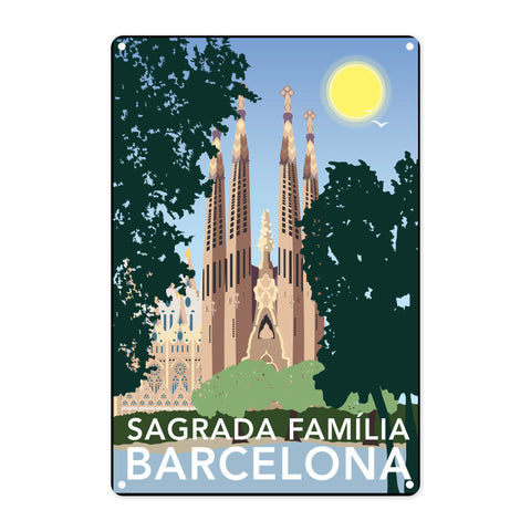 Sagrada Familia, Barcelona Metal Sign