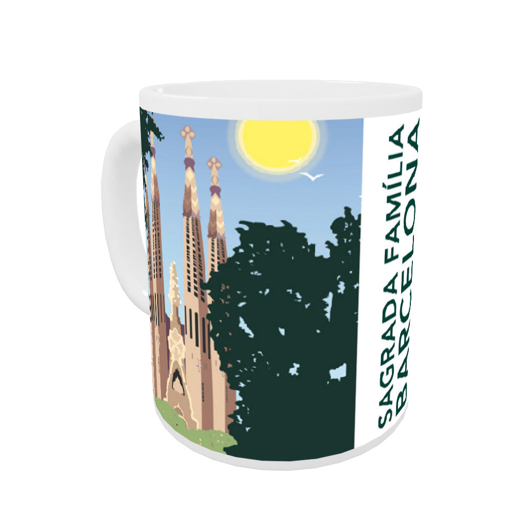 Sagrada Familia, Barcelona Coloured Insert Mug