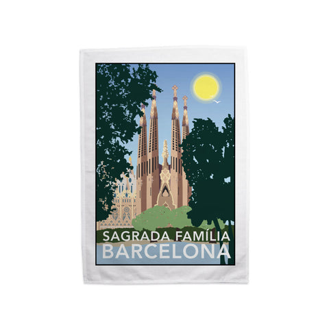 Sagrada Familia, Barcelona Tea Towel
