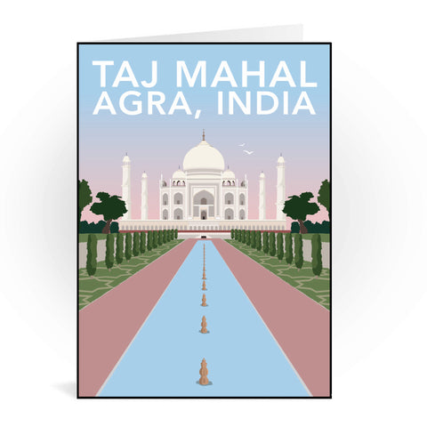 Taj Mahal, Agra Greeting Card 7x5