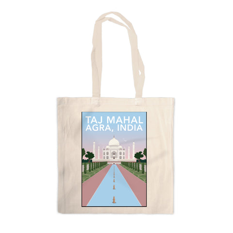 Taj Mahal, Agra Canvas Tote Bag