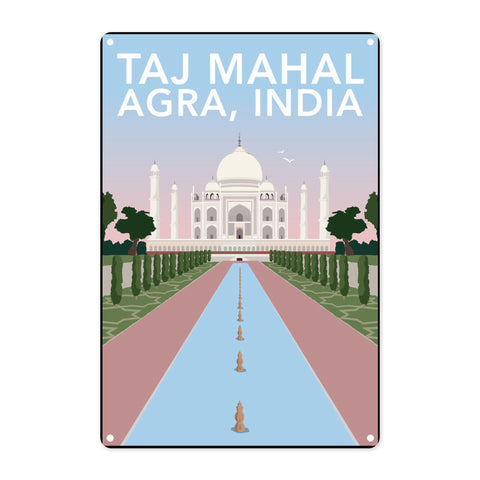 Taj Mahal, Agra Metal Sign