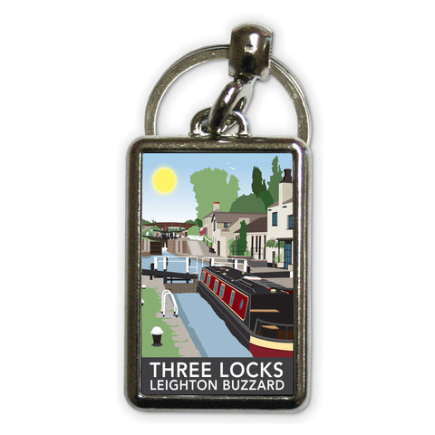 Three Locks, Leighton Buzzard Metal Keyring