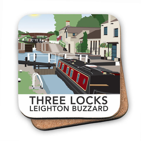 Three Locks, Leighton Buzzard MDF Coaster