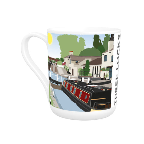 Three Locks, Leighton Buzzard Bone China Mug