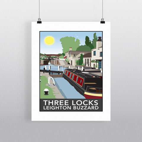 Three Locks, Leighton Buzzard 90x120cm Fine Art Print