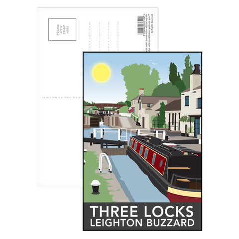 Three Locks, Leighton Buzzard Postcard Pack