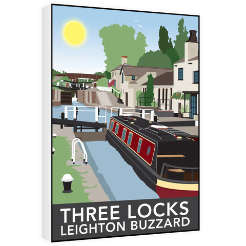 Three Locks, Leighton Buzzard 60cm x 80cm Canvas