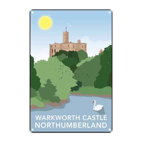 Warkworth Castle, Warkworth Metal Sign