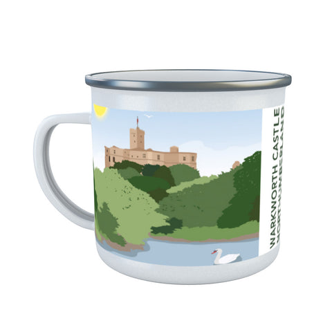 Warkworth Castle, Warkworth Enamel Mug