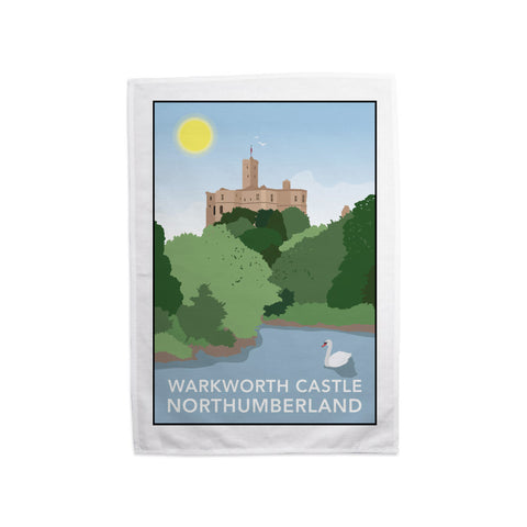 Warkworth Castle, Warkworth Tea Towel