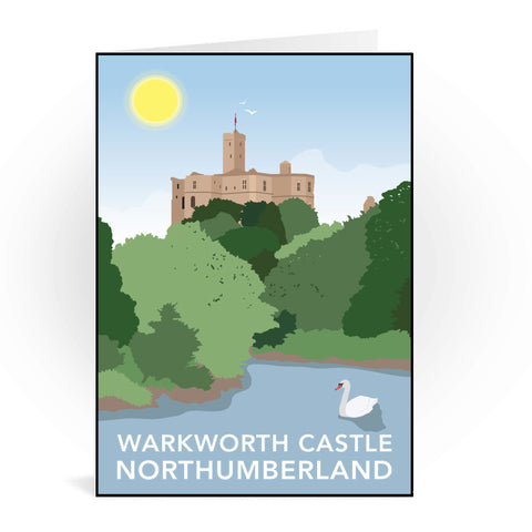 Warkworth Castle, Warkworth Greeting Card 7x5